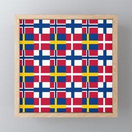 Flags of scandinavia2: finland, denmark,swede,norway Framed Mini Art Print