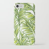 banana leaf iPhone & iPod Cases featuring Banana Leaf by The Paper Apartment