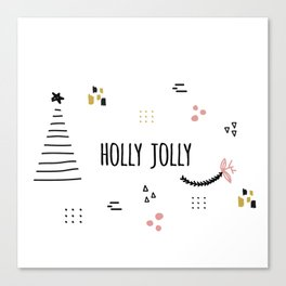 Minimal Holiday Designs :: Holly Jolly Canvas Print