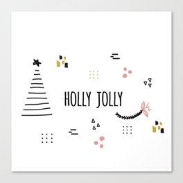 Minimal Holiday Designs :: Holly Jolly Canvas Print