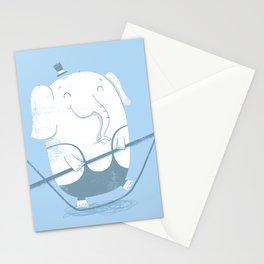 Elephants Balancing Act Stationery Cards