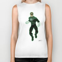 green lantern Biker Tanks featuring Green Lantern by The Vector Studio