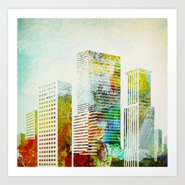 city wash I Art Print