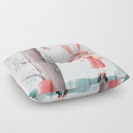 A Girl Bunny Floor Pillow