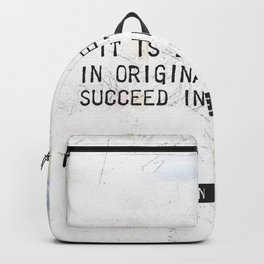 Herman Melville quote 2 Backpack