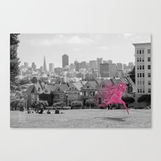 Unseen Monsters of San Francisco - Twizzly Grogache Canvas Print