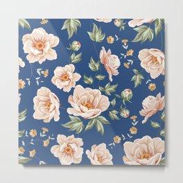 Floral tile pattern. Metal Print