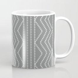 Grey White Arrows Geometric Pattern Coffee Mug