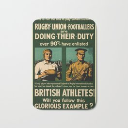 British rugby, football players call for duty Bath Mat