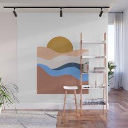 desert sunrise Wall Mural