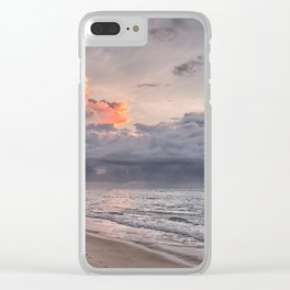 Cloudy Day on the Beach Clear iPhone Case