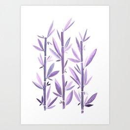 Purple Bamboo / Watercolor Botanical Art Print