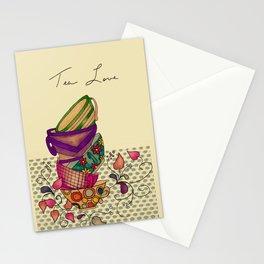 Tea Love Folk Art Stationery Cards