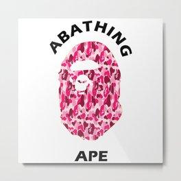 Abathing Ape Metal Print