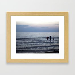 To the waters Framed Art Print