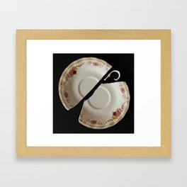Tea Plate Framed Art Print