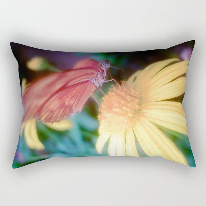 hungry butterfly Rectangular Pillow