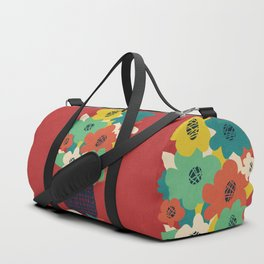 Paper Flowers Duffle Bag