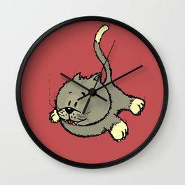 I always land on my feet Wall Clock