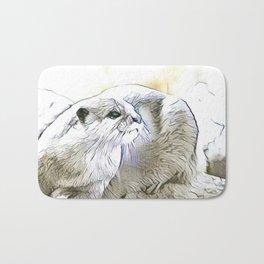 Fascinating altered animals - Otter Bath Mat