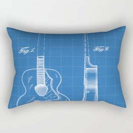 Accoustic Guitar Patent - Classical Guitar Art - Blueprint Rectangular Pillow