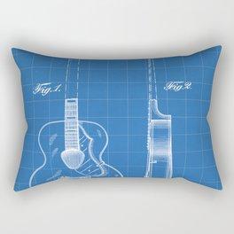 Accoustic Guitar Patent - Classical Guitar Art - Blueprint Rectangular Pillow