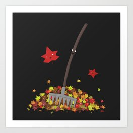 Best Friends: Rake and his Leafy Pals Art Print