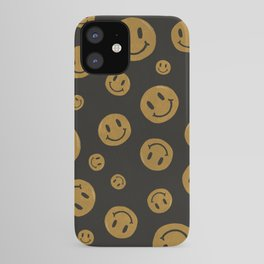 90's Smiley Face Pattern iPhone Case