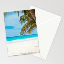 Turquoise Tropical Beach Stationery Cards