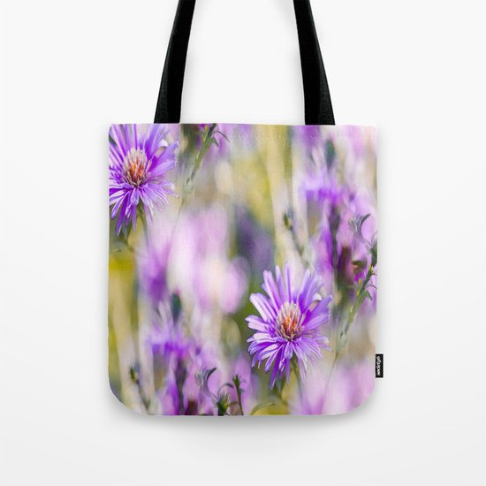Summer dream - purple flowers - happy and colorful mood Tote Bag