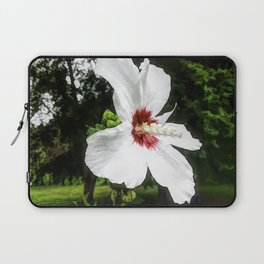 The White Hibiscus Flower Laptop Sleeve