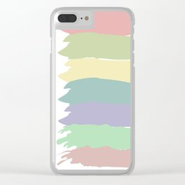 Pastel Line Up Clear iPhone Case