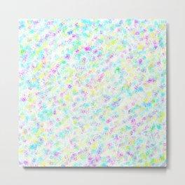 Colorful Pixels & Subtle Stars Metal Print