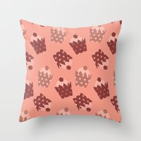 cupcakes Throw Pillows featuring Cupcakes by Ingrid Castile