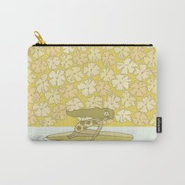 follow the dolphins to paradise ~ hibiscus // retro surf art by surfy birdy Carry-All Pouch