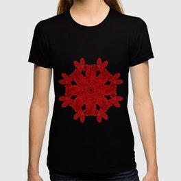 Red Ink Drop in Water - Mandala T-shirt