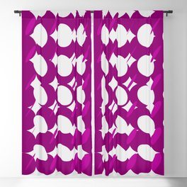 elipse grid pattern_magenta Blackout Curtain