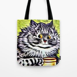 "Louis Wain's Cats ""Kitty On Coffee Break"" Tote Bag"