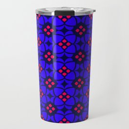 Purple and Pink Mosaic Pattern Travel Mug