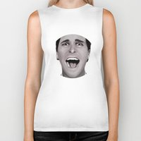 american psycho Biker Tanks featuring American Psycho by Alexia Rose