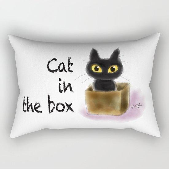 Cat in the box Rectangular Pillow