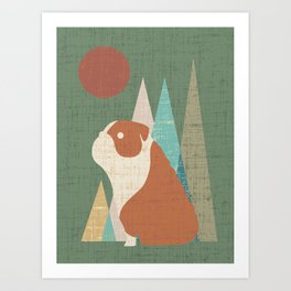 Waiting for you English Bulldog Art Print