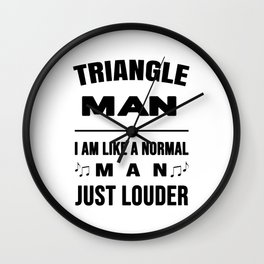 Triangle Man Like A Normal Man Just Louder Wall Clock