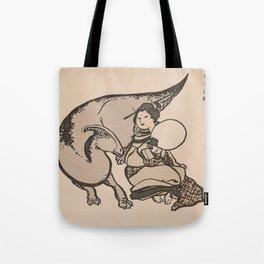 Geisha & Hadrosaure Tote Bag