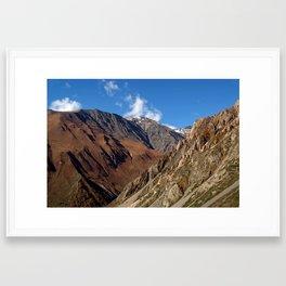 Scenery Yak Kharka to Thorung Phedi Framed Art Print