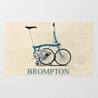 brompton Area & Throw Rugs featuring Brompton Bike by Wyatt Design