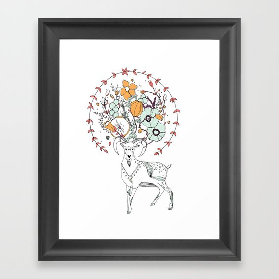 like a halo around your head Framed Art Print