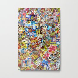 Cereal Boxes Collage Metal Print