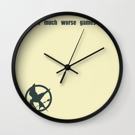 Mockingjay Quote Wall Clock