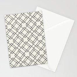 Simply Mod Diamond Black and Cream Stationery Cards